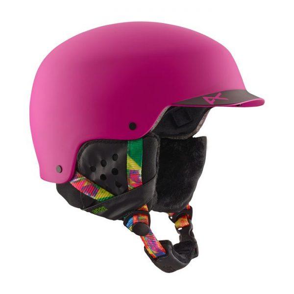 Anon casco Donna Snowboard Sci con visiera Aera Glitchy Pink