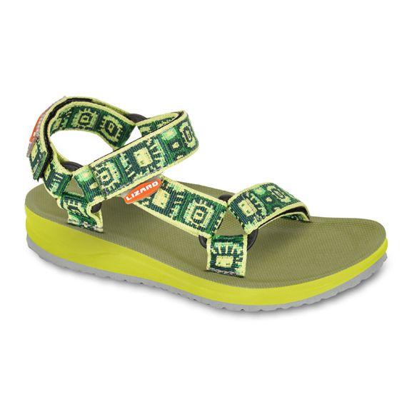 Sandali da bambino Lizard aperti Raft Junior sandaletto spiaggia città bimba bambino verdi