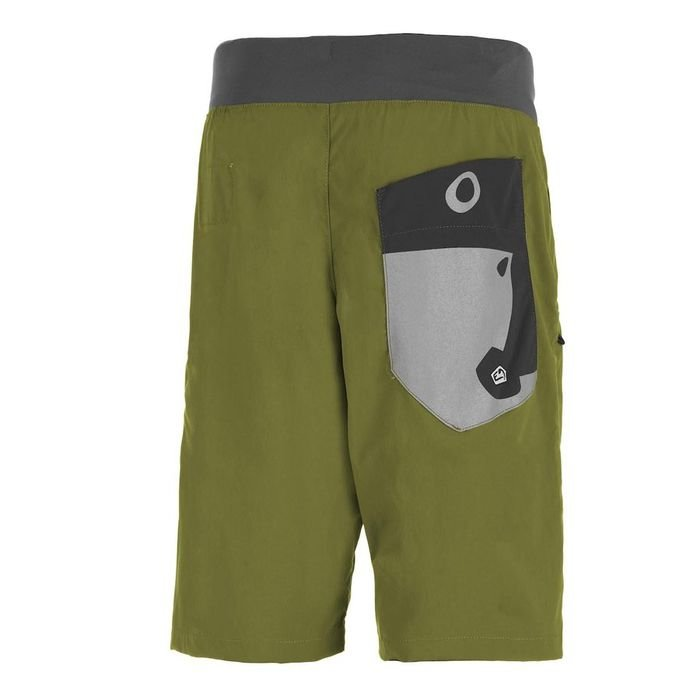 E9 Pantaloni corti uomo Hip verdi