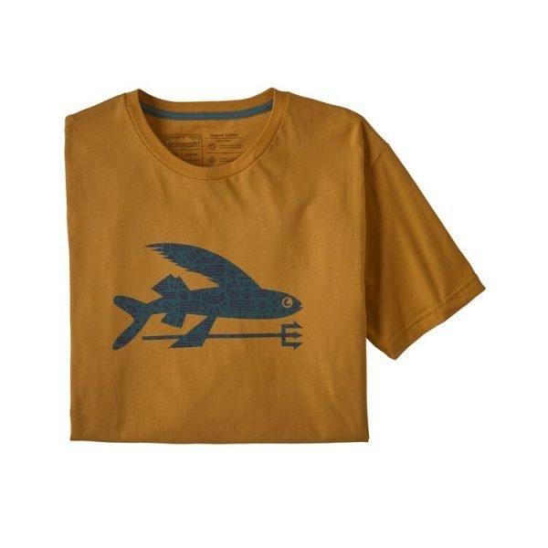Patagonia Men's Flying Fish Organic Cotton T-Shirt maglietta ragazzo pesce con tridente