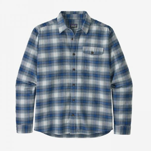 Patagonia Men's Long-Sleeved Lightweight Fjord Flannel Shirt camiciotto in flanella leggera a quadretti