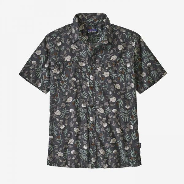 Patagonia Men's Back Step Shirt camiciotto hawaiano fiorelloni