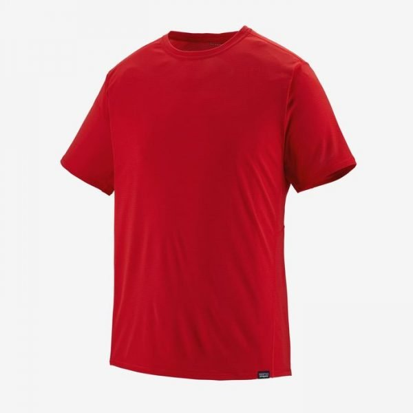 Patagonia Men's Capilene Cool Lightweight Shirt maglietta leggera tecnica uomo rossa