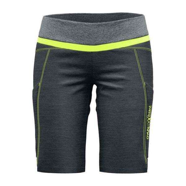 Crazy Idea Shorts Exit Woman pantaloni corti donna trekking verde fluo