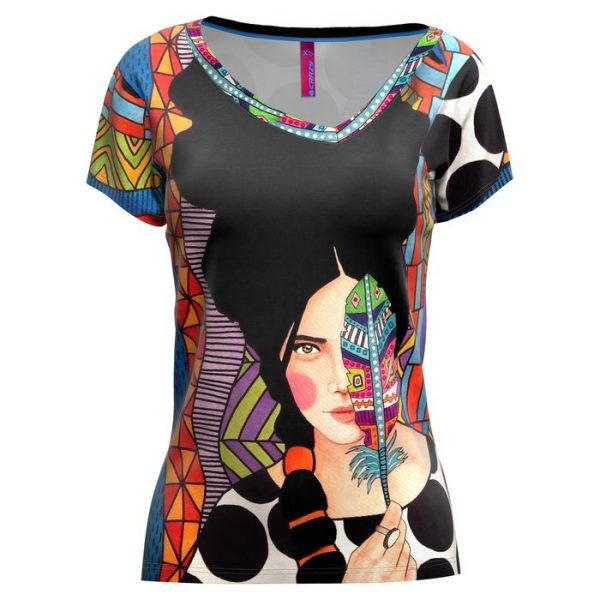 Crazy Idea T-Shirt Shade Woman maglietta donna con grafica