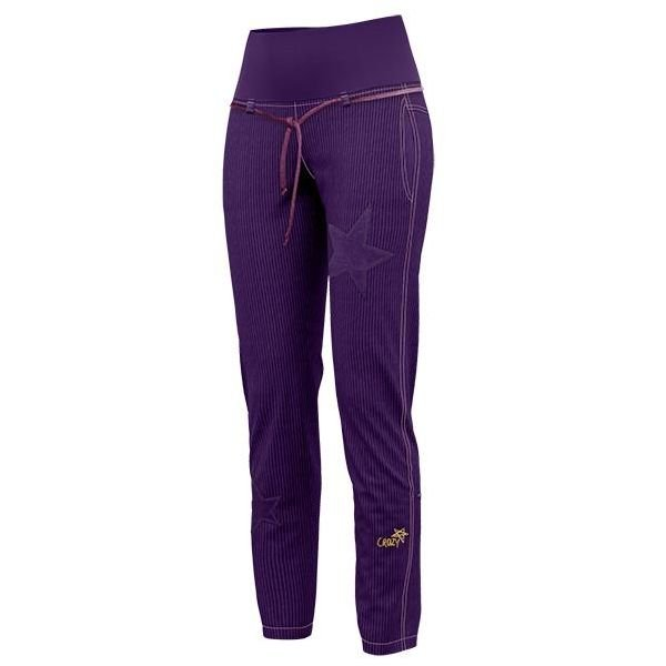Crazy Idea Pants Rockstar Woman pantalone femminile viola in velluto
