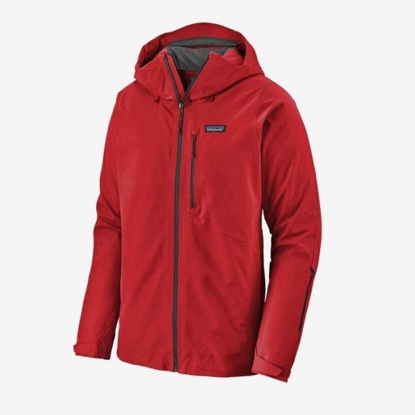 Patagonia Men's Powder Bowl Jacket giacca sci snowboard uomo ragazzo rossa gore tex