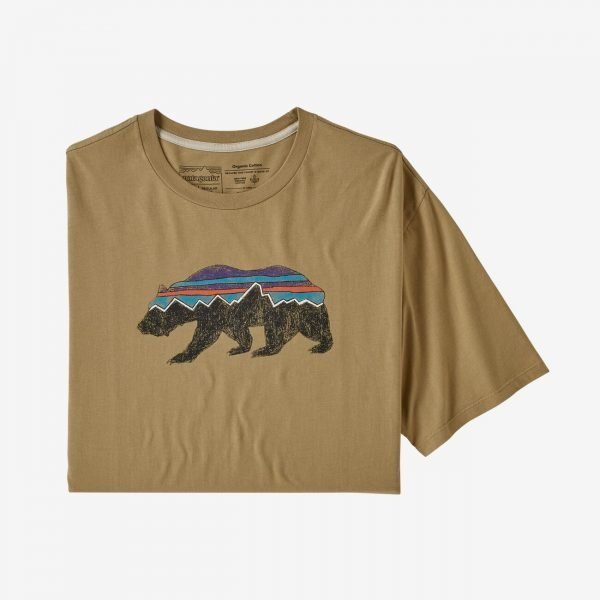 Patagonia Men's Fitz Roy Bear Organic Cotton T-Shirt maglietta grafica orso