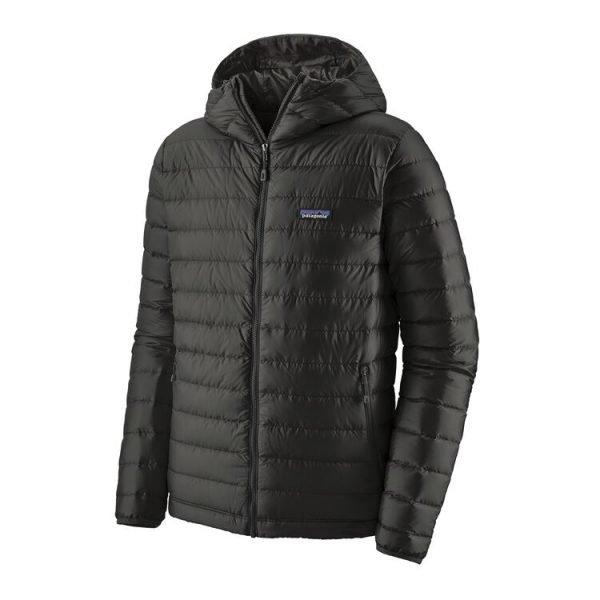 Patagonia Men's Down Sweater Hoody piumino con cappuccio uomo nero