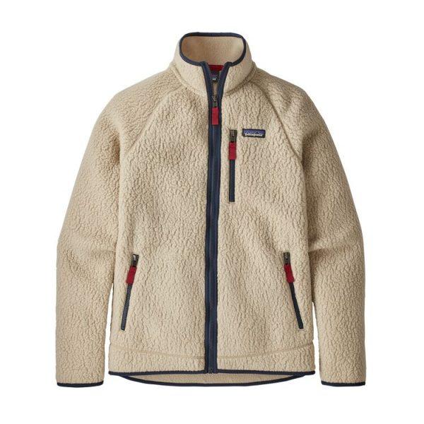Patagonia Men's Retro Pile Fleece Jacket pile peloso uomo ragazzo bianco