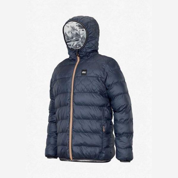 Picture organic clothing piumino sintetico caldo reversibile blu da uomo ragazzo