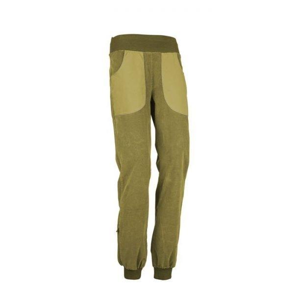 Enove Pantalone Donna Invernale Iuppi vellutino verdi