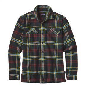 Patagonia Camicia Uomo Flanella M's Long-Sleeved Fjord Flannel Shirt colore Carbon a quadrettoni scozzesi