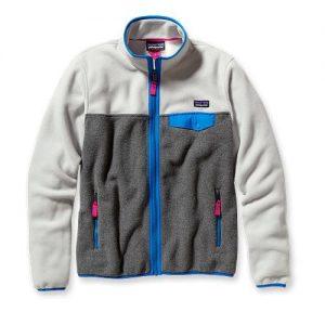 Patagonia Pile Donna Women's Full-Zip Snap-T Jacket colore nickel