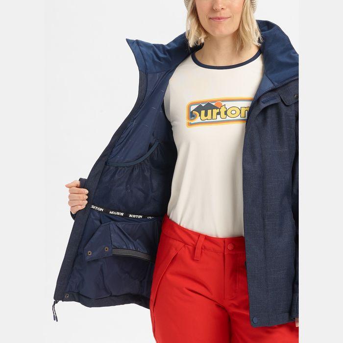giacca neve rgaazza blu denim sci snowboard