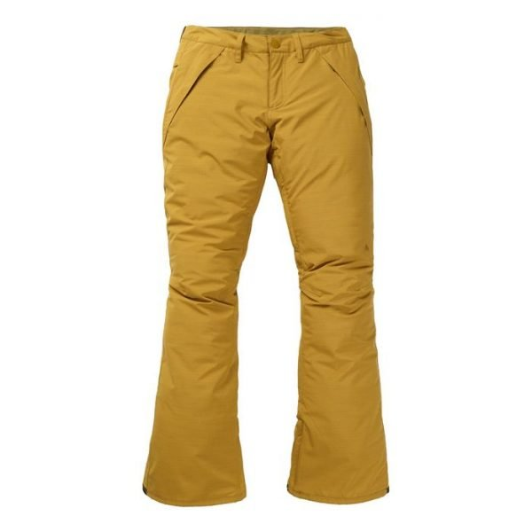 pantalone sci snowboard donna ragazza senape giallo