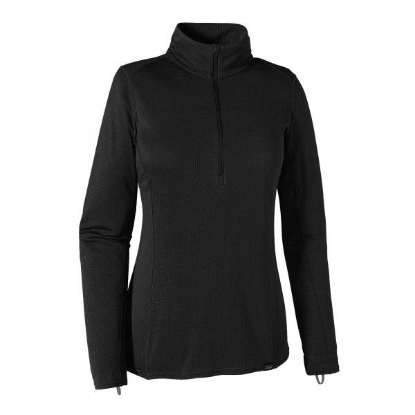 Patagonia Intimo Termico Donna W's Capilene® Midweight Zip-Neck black nero
