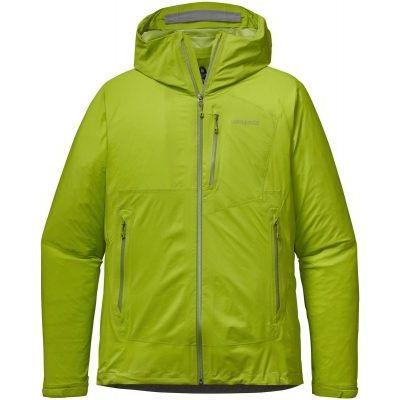 Patagonia Guscio Giacca pioggia Uomo M's Stretch Rainshadow Jkt pepper green verde acido