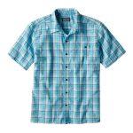 Patagonia Men's Puckerware Shirt quadretti blu azzurri bianchi camicia manica corta uomo