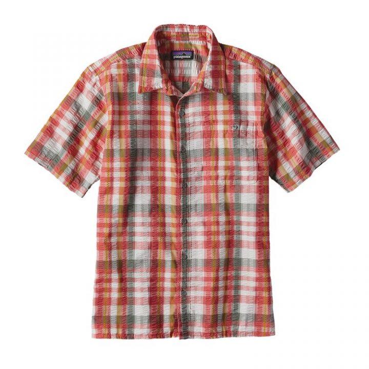 Patagonia Men's Puckerware Shirt camiciotto quadrettoni rossi