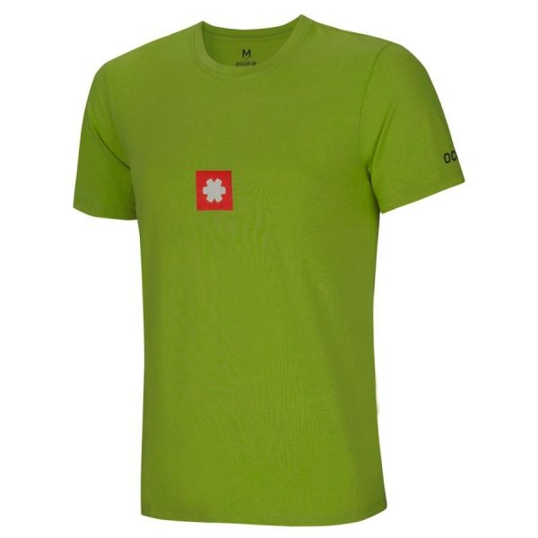 Ocun Logo Tee Uomo green arrampicata