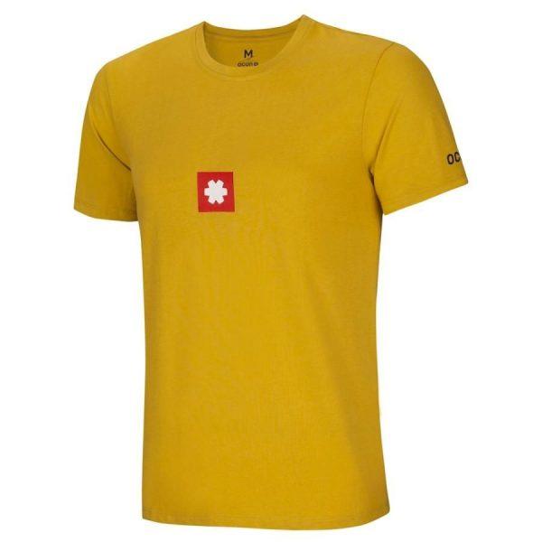 Ocun Logo Tee Uomo yellow arrampicata