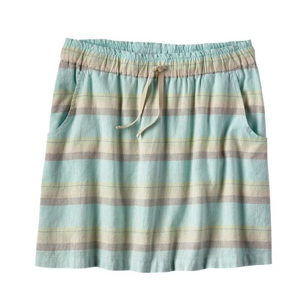 Patagonia Women's Island Hemp Beach Skirt shorelines small bend blue gonna donna canapa