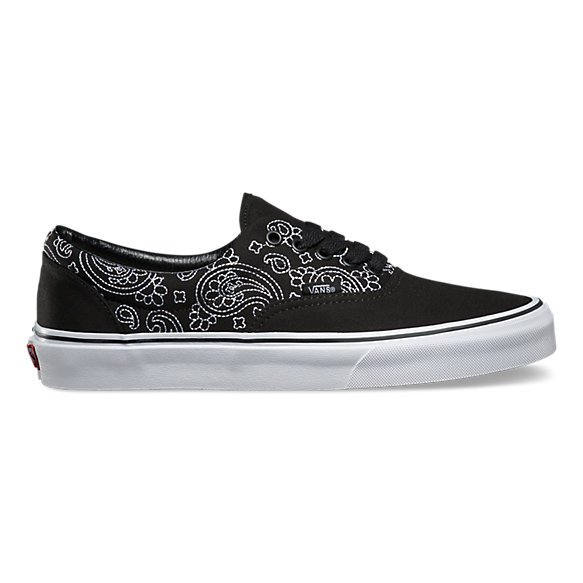 Vans Era Donna Ragazza Nera Bandana Stitch black true white