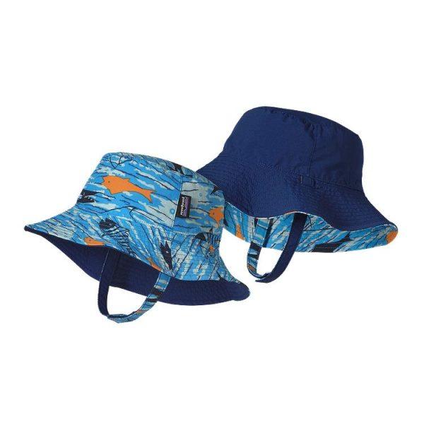 Patagonia Baby Sun Bucket Hat cappellino largo mare bimbo bambino bambina