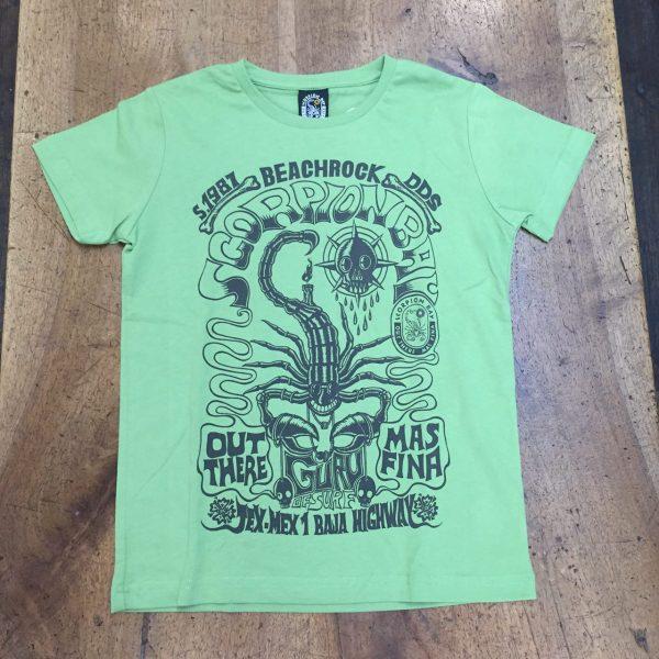 Scorpion Bay T-shirt Magic Print verde scoprione