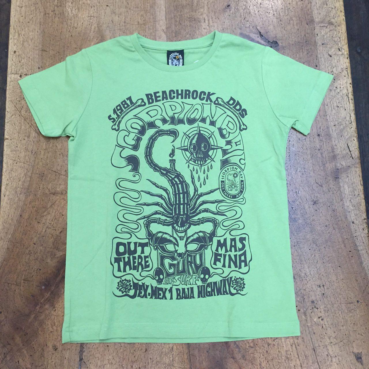 Scorpion Bay T-shirt Magic Print Ragazzo Verde Scoprione afb2c269b2e0