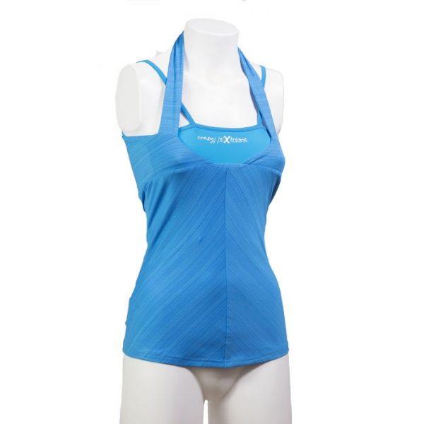 Crazy Idea Top Crossing Woman arrampicata blue