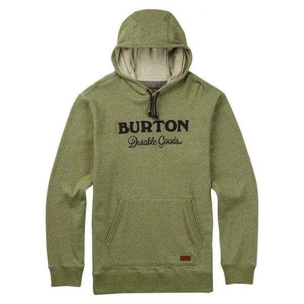 Burton Maynard Pullover felpa uomo verde cappuccio