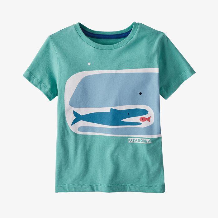 Patagonia Baby Graphic Organic Cotton T-Shirt maglietta bimbo balena azzurra