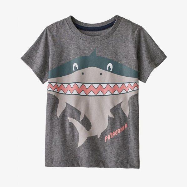 Patagonia Baby Graphic Organic Cotton T-Shirt maglietta bambino squalo