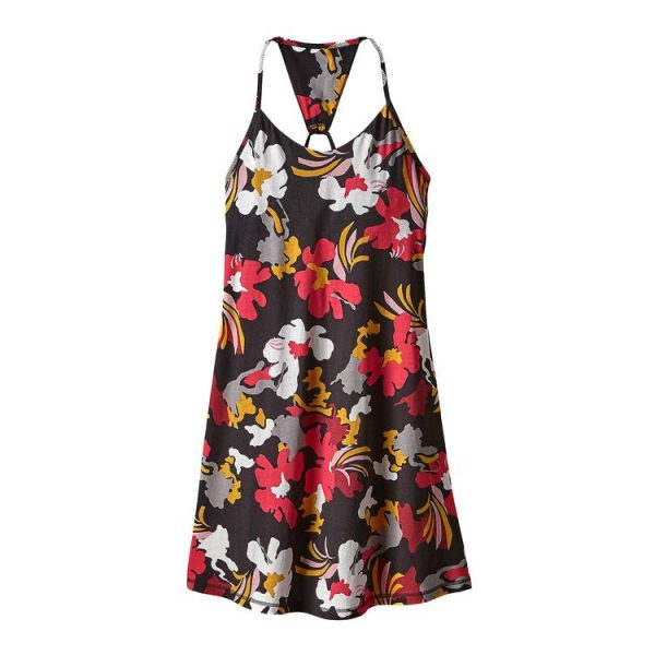 Patagonia Women's Edisto Dress nero fiorelloni vestito vestino abito