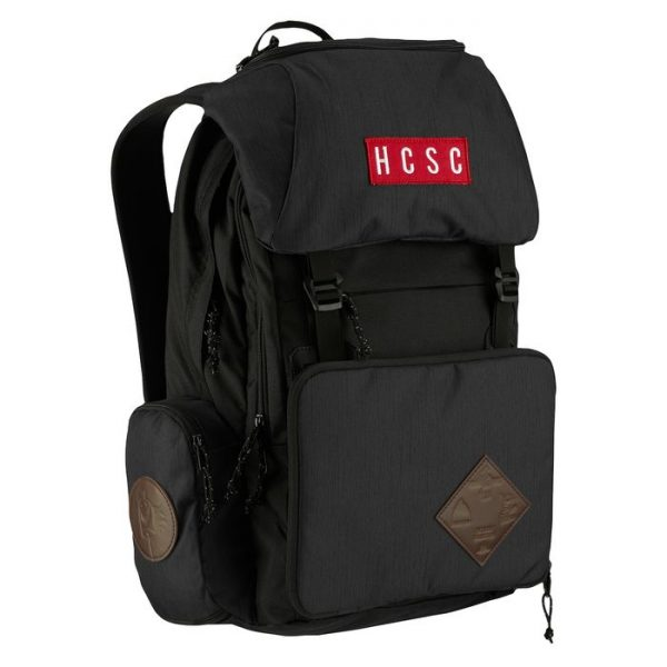 HCSC x Burton Shred Scout Backpack anti pioggia cappuccio sacca staccabile nero