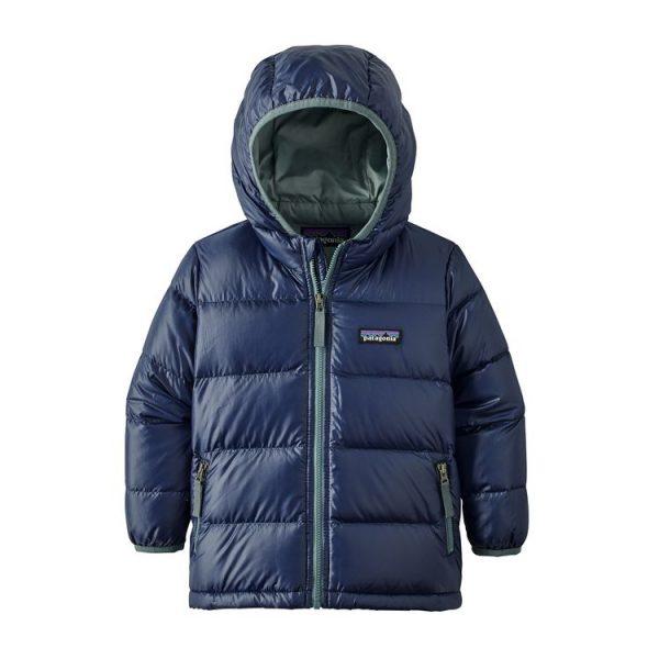 Patagonia Baby Hi-Loft Down Sweater Hoody classic navy blu