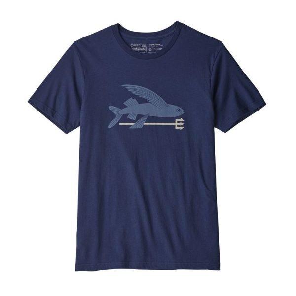 Patagonia Men's Flying Fish Organic Cotton T-Shirt maglietta uomo pesce