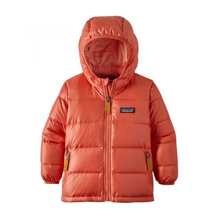 Patagonia Baby Hi-Loft Down Sweater Hoody rosa bimba bambina