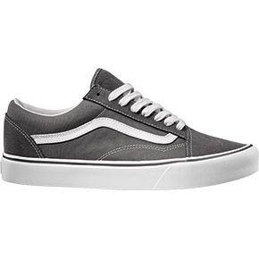 Vans Throwback Old Skool Lite grigia banda bianca ragazzo scarpa scamosciata