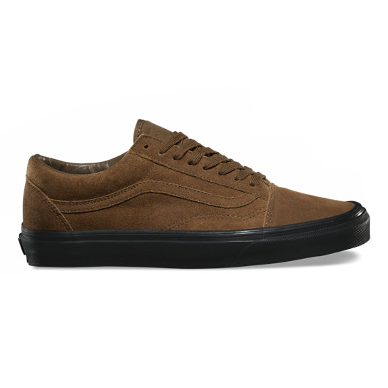 Vans Old Skool Suede Marroni Teak Black suola nera scamosciate
