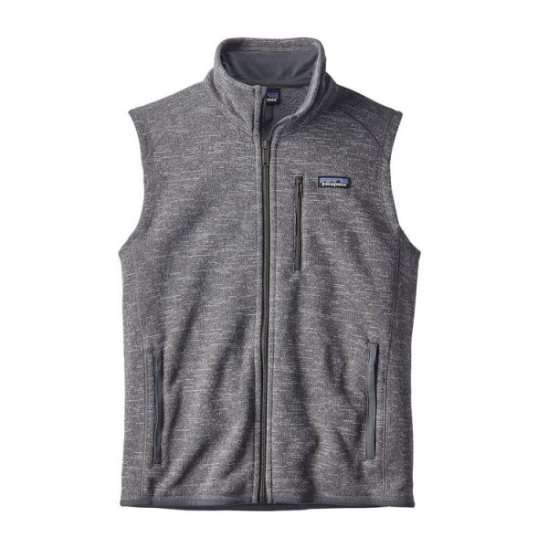 Patagonia Men's Better Sweater Fleece Vest grigio uomo pile smanicato