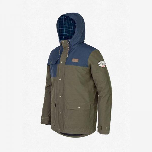 giacca verde blu impermeabile da tempo libero sci
