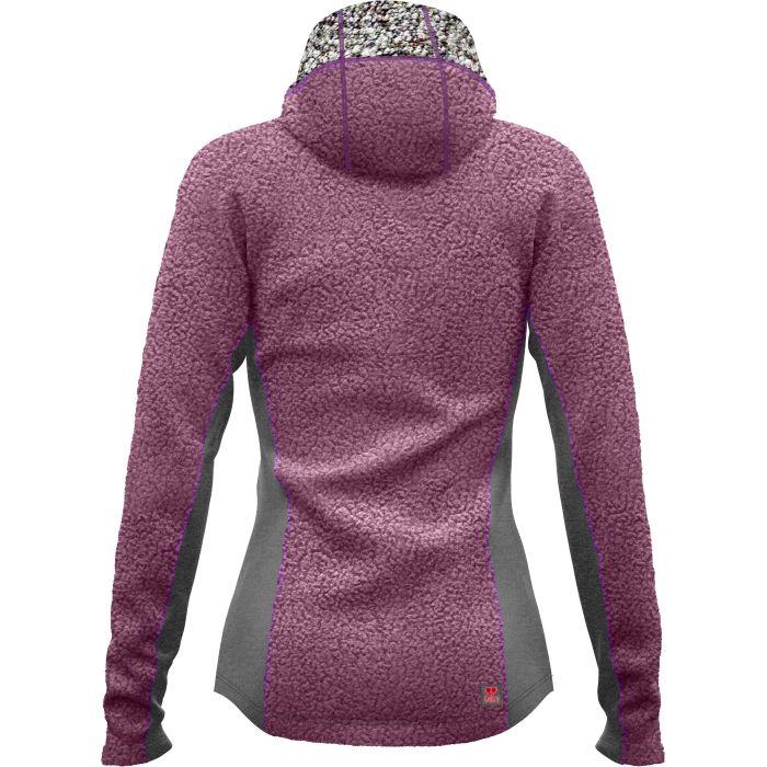 Crazy Idea Jkt Around W violet giacca pile donna