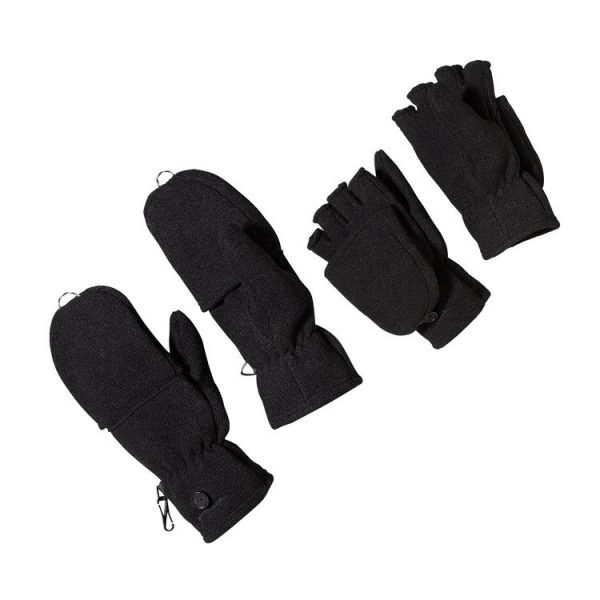 Patagonia Women's Better Sweater Fleece Gloves black neri apribili dita moffole