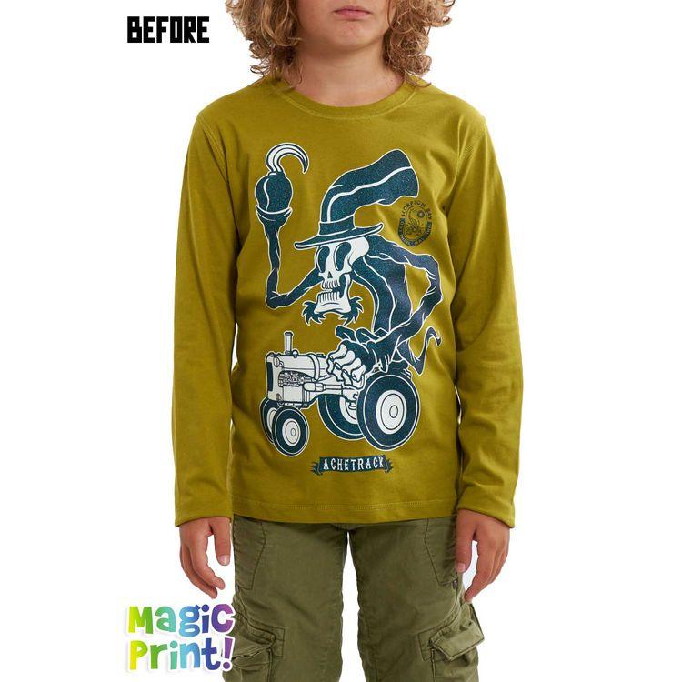 Scorpion Bay T-shirt manica lunga ragazzo jtlb3492 scheletro che si vede al  buio eb25518f556d