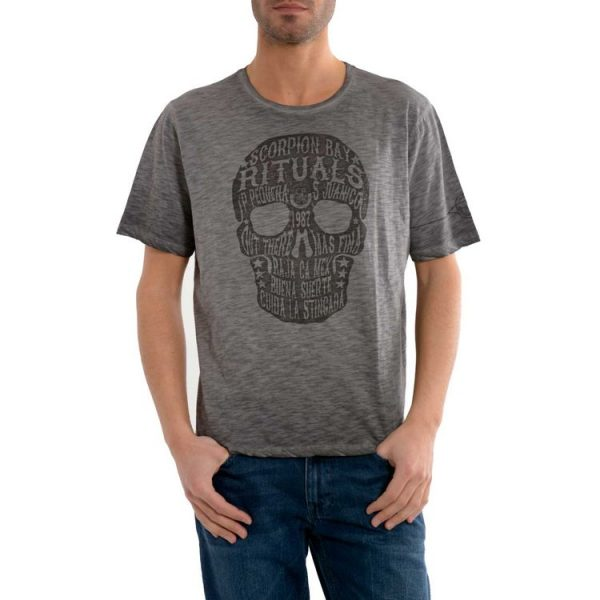 Scorpion Bay T-shirt teschio Mte3440 teschio melange