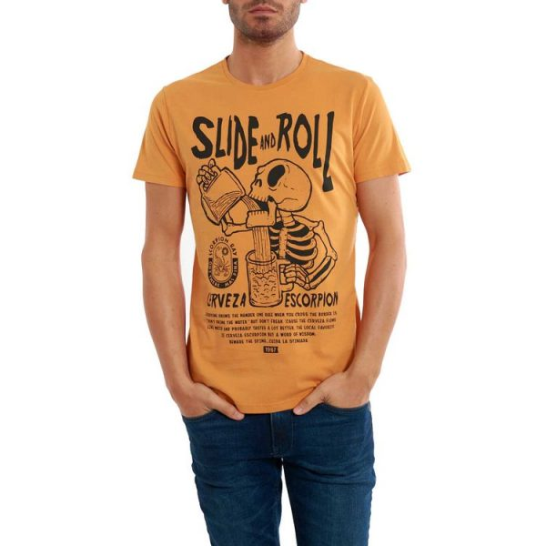 Scorpion Bay T-shirt teschio birra Mte3452