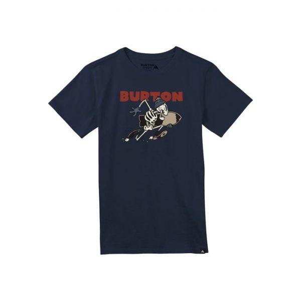 Burton Boys Stoked Short Sleeve T Shirt maglietta scheletro snowboard